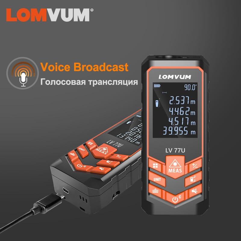 LOMVUM-جهاز تحديد المدى بالليزر الرقمي ، ليزر روليت محمول باليد ، مقياس مسافة الليزر ، مستوى كهربائي ، شريط قياس ليزر