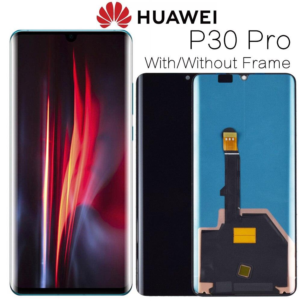 """Pantalla ORIGINAL de 6,47 """"con reemplazo de marco para Huawei P30 Pro LCD MONTAJE DE digitalizador con pantalla táctil VOG-L29 VOG-L09 VOG-L04"""