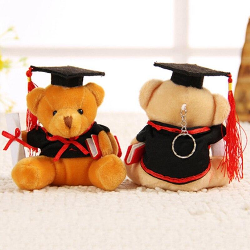 1 pièces 9cm ours en peluche jouets en peluche pour enfants drôle remise des diplômes cadeau pour enfants décor à la maison