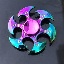 Spinner per dito in metallo arcobaleno R118 cuscinetto Spinner giocattolo giocattoli per adulti per bambini Raytheon fungo 60-65mm Fidget Spinner 2019