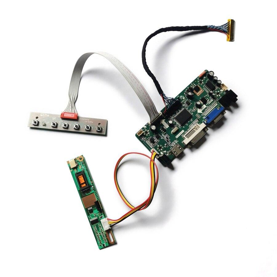 ل LTN141P2/LTN141P4/QD15FL02/QD14FL02 30-Pin VGA + DVI شاشة 1400*1050 LVDS M.NT68676 مجموعة لوحة تحكم العرض 1CCFL