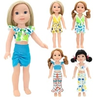 14 5inch doll clothes summer holiday leisure suit fashion new born doll fashion trend multicolour costume for american girl doll
