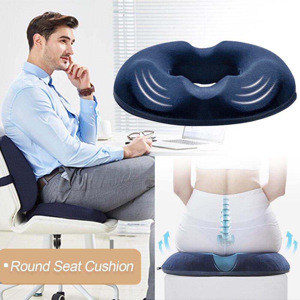Multifunction Anti Hemorrhoid Massage Chair Seat Cushion Hip Push Up Orthopedic Foam Memory Pillow Home Car Office Seat Cushion