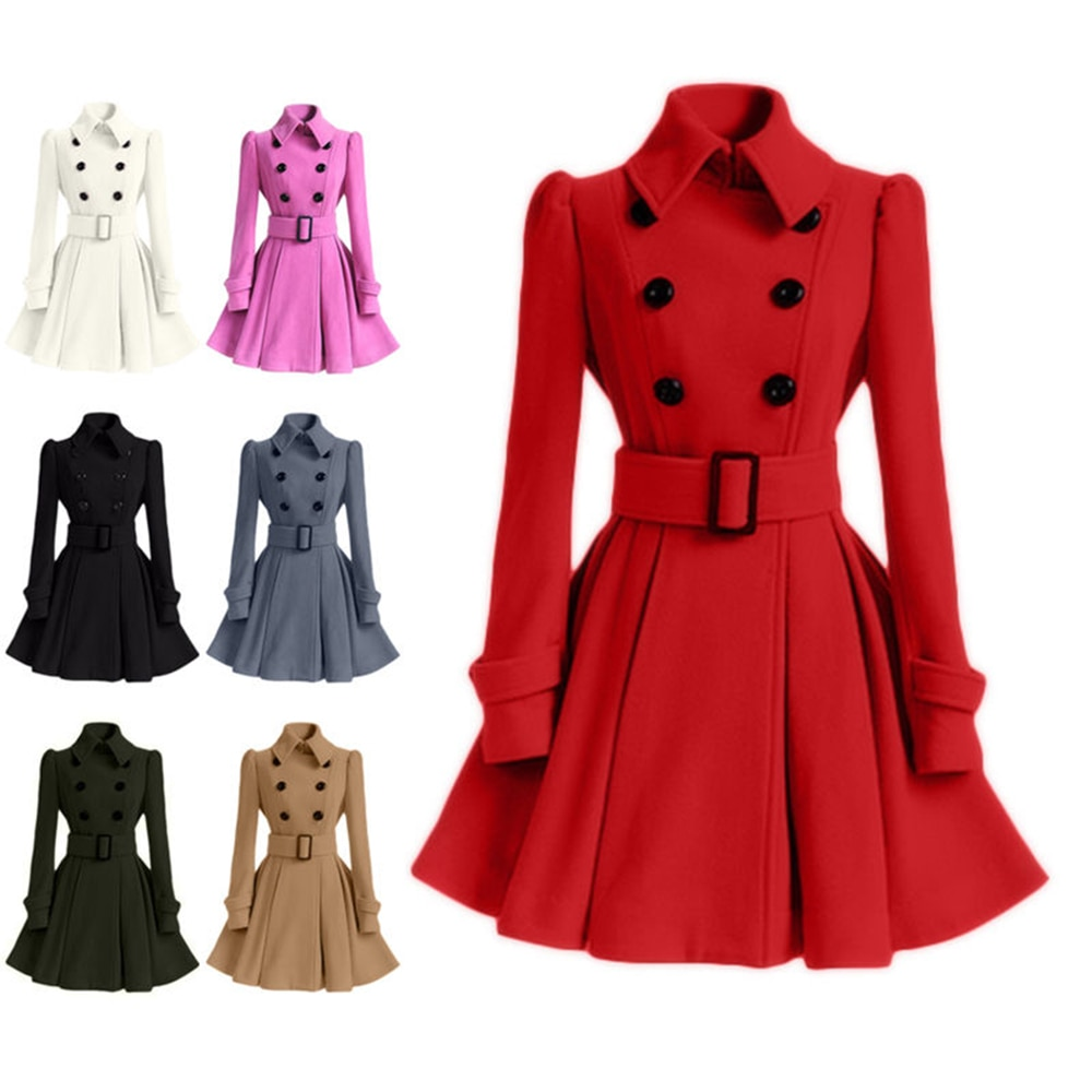 Women Vintage Sashes A-line Party Mini Dress Long Sleeve MANDARIN COLLAR Solid Casual Elegant Dress Winter New Fashion Dress