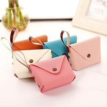 Popular Cute Candy Color Small Coin Purse Bag Holder Zip Coin Purse Key Clutch Handbag Girl Women Le