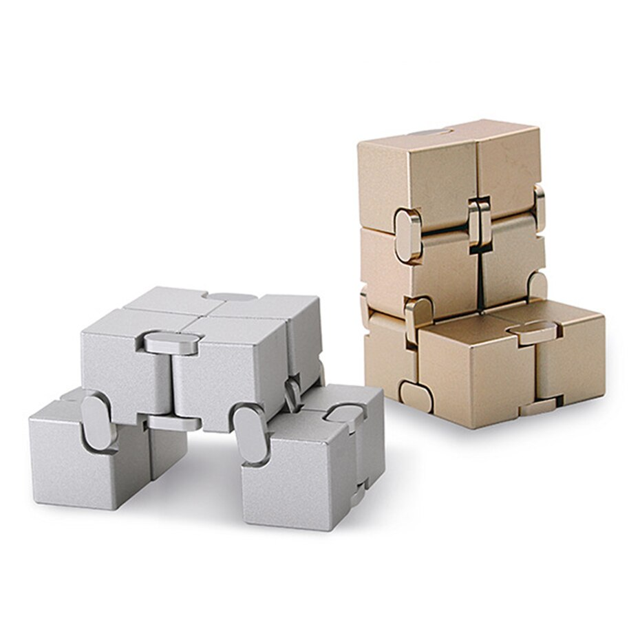 Aluminum Alloy Infinity Cube Mini Toy Finger EDC Anxiety Stress Relief Cube Blocks Funny Toys for Children Best Gift Toys Adult enlarge