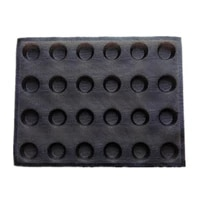 1pc 24 cavity silicone mold bread molds for baking frozen dough molds small round shape baking pan cream puffs molds breathable