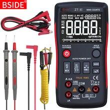 Multimètre numérique BSIDE ZT-X 9999 t-rms gamme automatique EBTN LCD voltmètre cc ampèremètre analogique Lcr mètre condensateur Ohm Hz testeur Q1