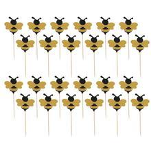 Gâteau Adorable abeille A35 36 pièces   Joli choix de gâteaux, décoration de Cupcake, choix de gâteaux Fruites de Dessert pour réception-cadeaux pour le bébé, fournitures danniversaire