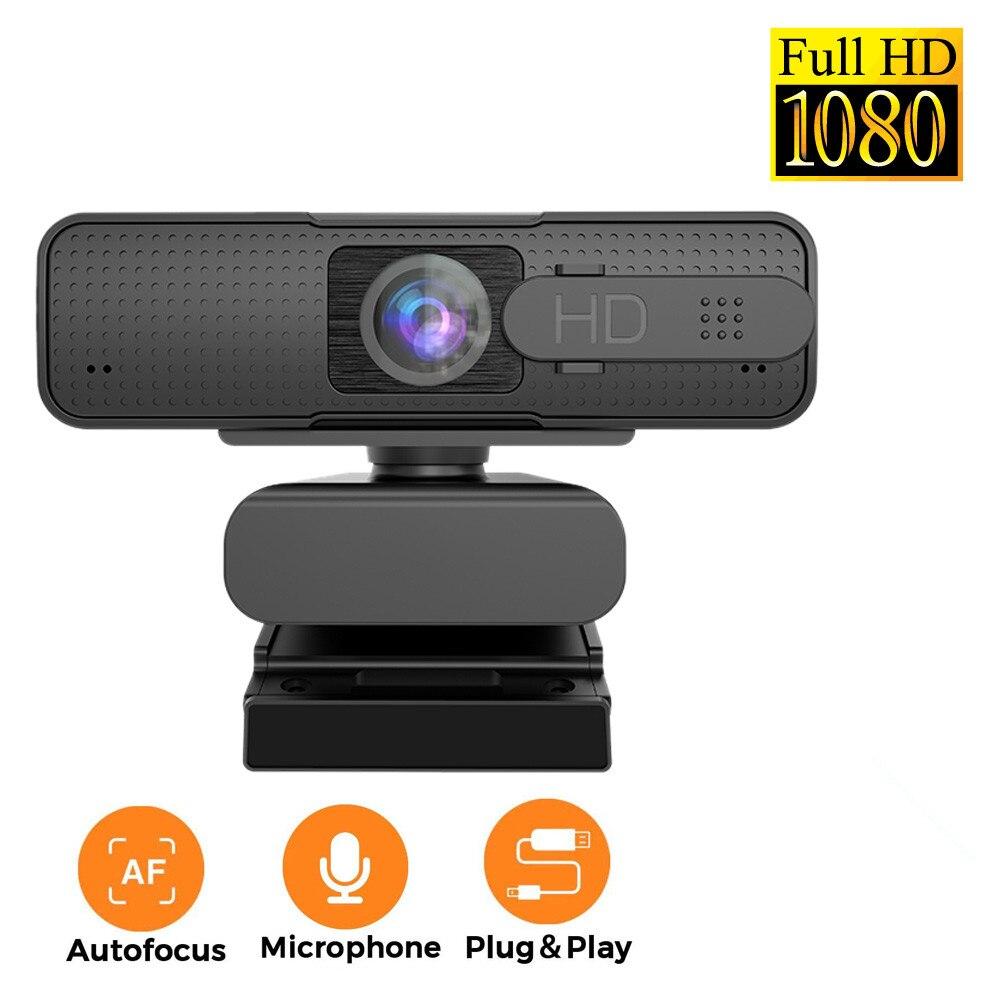 Autofocus-كاميرا ويب عالية الدقة ، 1080 بكسل ، USB ، للكمبيوتر الشخصي ، مع ميكروفون ، Asuh H701