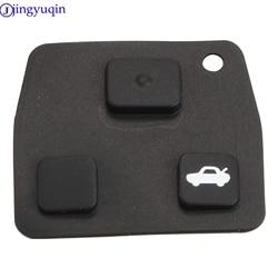 Jingyuqin 1ps 2/3 botões do carro remoto chave fob almofada de borracha para toyota/avensis/corolla/lexus/rav4 caso parte