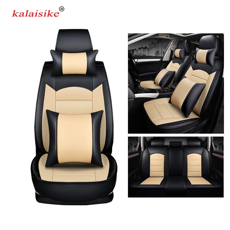 Fundas de cuero para asiento de coche kalaisike universal para Kia todos los modelos cerato ceed sportage rio spectra sorento picanto K3 K4 K5 K2