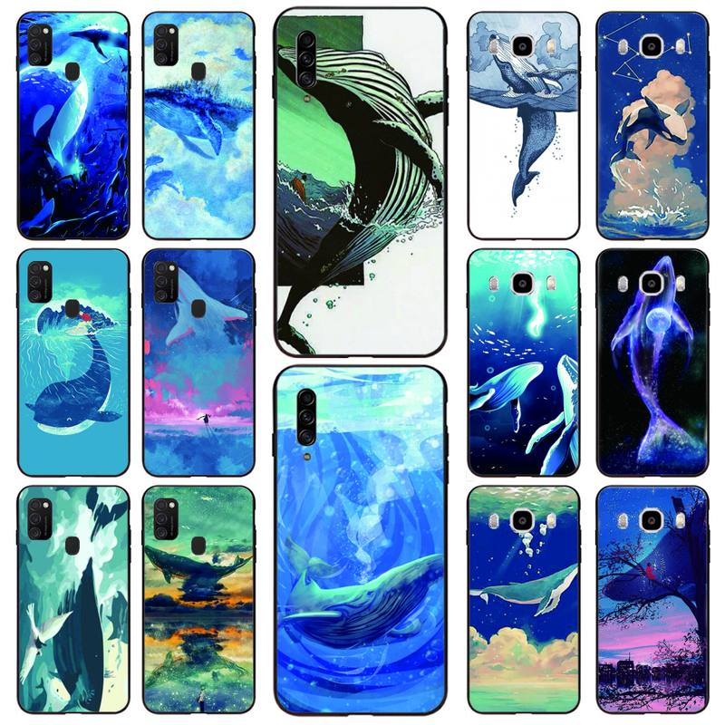 Painting Whale Anime Phone Case For Samsung S10 5G/lite/plus S20/Plus/Ultra Note8/9/10/20Pro/plus Ca