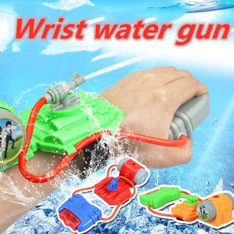 Novas crianças inteligentes favorito verão praia brinquedos educativos luta de água pistola piscina pulso armas água ao ar livre