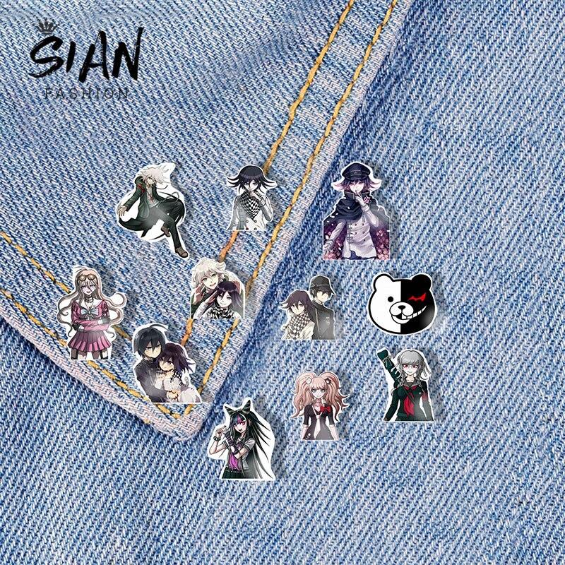 SIAN Game, аниме, Danganronpa, броши, булавки, акриловое искусство, фото, мультфильм, отворот, булавка, брошь, значок со смолой, для украшения одежды, юве...