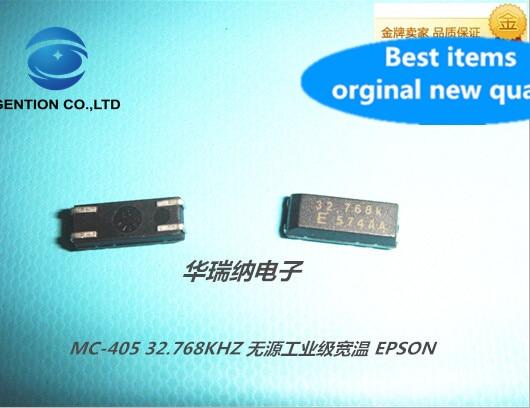 10 Uds 100% original nuevo MC-405 32.768K 32.768KHZ de cristal de cuarzo resonador MC-405 SMD-4