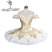 2017New arrivée! haute qualité or blanc ballet tutu professionnel tutu crêpe tutu classique ballet tutu ballerine tutuBT9099