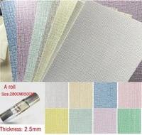 28050cm 3d wall sticker self adhesive thermal insulation wallpaper linen cloth diatom mud plain decorative refurbished wallpapr