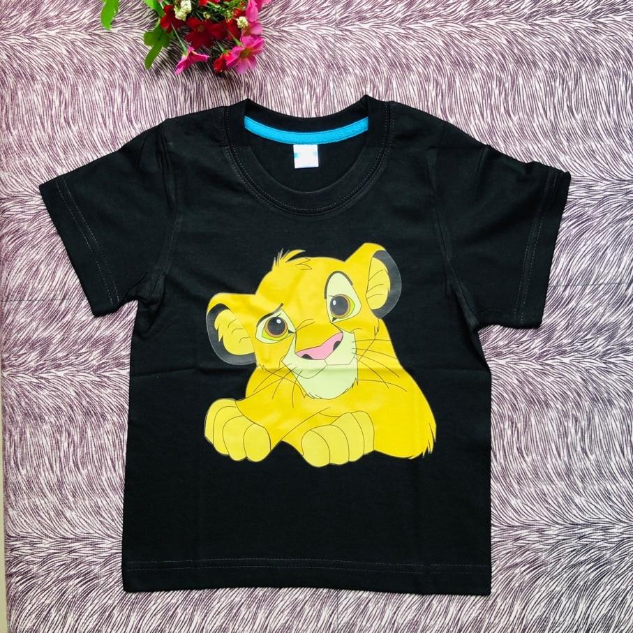 100% Cotton lion king T Shirt Children T Shirts Boys Clothing Kids Clothes Summer Tops