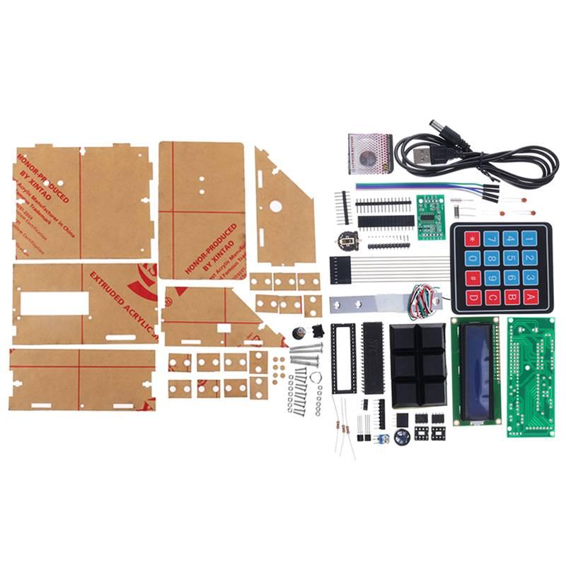 Kit de producción de Escala electrónica multifunción MCU versión Tansparent DIY, Kit de entrenamiento electrónico con Sensor de presión