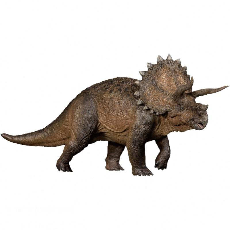 In Stock 1:35 Nanmu Triceratops Heavy Lance Dinosaurs Prehistoric Animal Model Toy Original Color