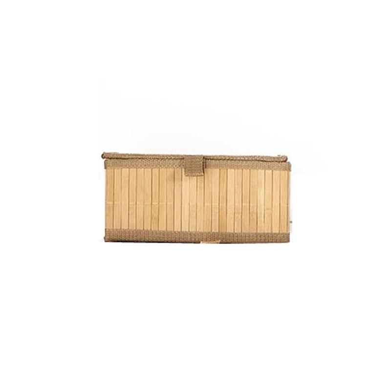 تخزين سلة الغسيل القابلة للطي المنظم المنسوجة يدويا سعة كبيرة سلال مصنوعة من خشب الخيزران غطاء الملابس المنزلية اللعب تخزين دلو