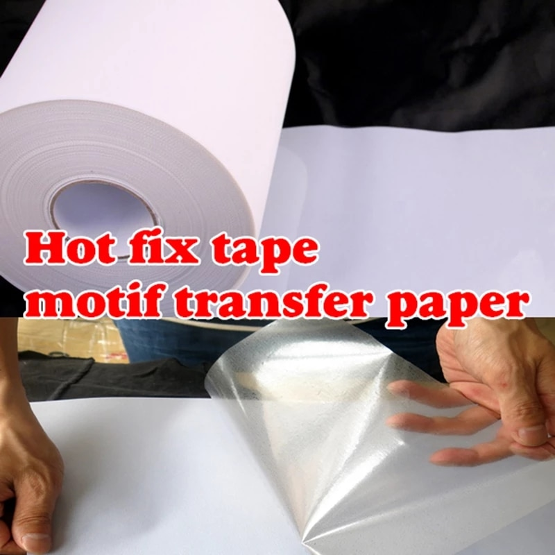 Hot Fix Paper Tape Iron On Heat Transfer Film Super Adhesive Quality Hot Fix Rhinestone Hotfix Paper