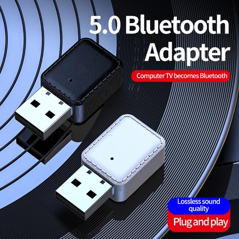 Transmisor receptor 2 en 1 Mini altavoz portátil auriculares de alta velocidad música Audio en casa adaptador Bluetooth USB adaptador inalámbrico