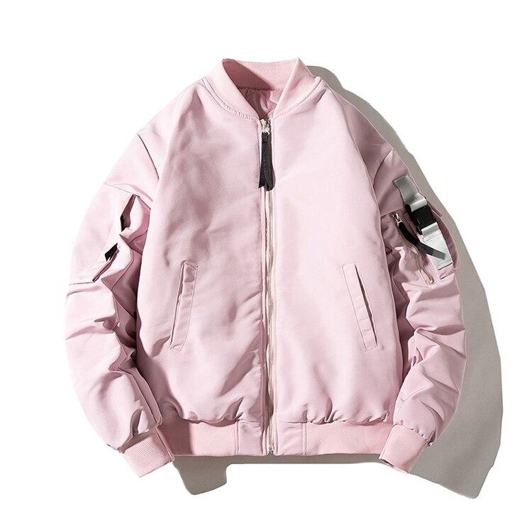 Женская куртка-бомбер большого размера, розовая теплая куртка-бомбер для осени и зимы, 2020