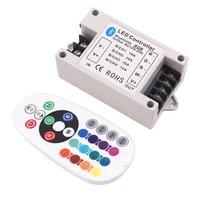 dc12 24v rgbrgbw bluetooth controller 30a42a 24key ir remote control 360w big power bt controller for rgbwrgb led strip light
