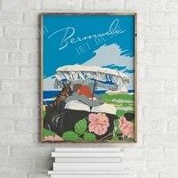 bermuda islands vintage travel poster retro wall art print