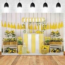 Виниловый фон для фотосъемки новорожденных с изображением желтого цветка магазина фруктов Yeele