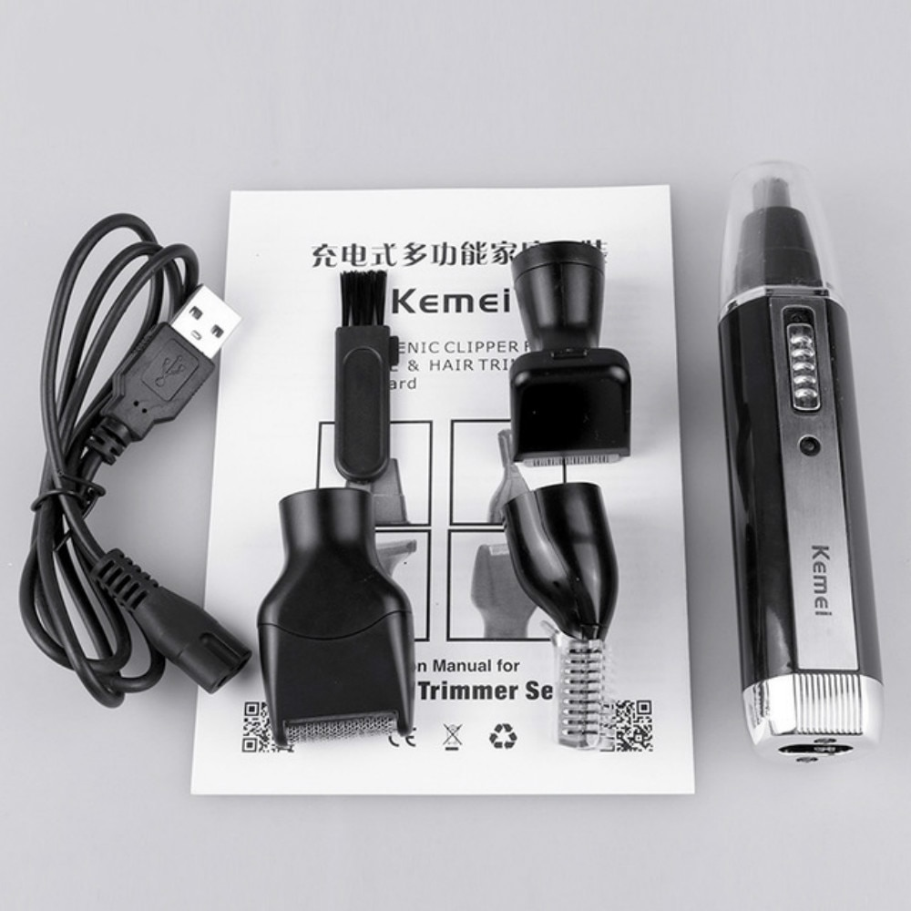4 In 1 Multifunctional Trimmer Men Professional Facial Trimmer Waterproof Hair Removal Machine Rechargeable Shaver Hair Cliper enlarge