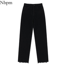 Nbpm New 2021 Fashion Washed Slim Femme Jeans Woman High Waist Spring Summer Denim Trousers Pants St