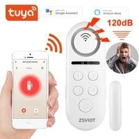 Tuya     capteur de porte WiFi intelligent  buzzer integre 120db  Notification  alerte  alarme de securite  application compatible Alexa Google Home Tuay