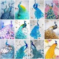 5d diamond embroidery anmial peacock cross stitch resin diamond painting full square round diamond mosaic rhinestones home decor