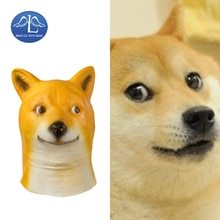 MANLUYUNXIAO Halloween Animal chien couvre-chef Latex pour adulte carnaval fête fantaisie balle accessoire taille unique en gros