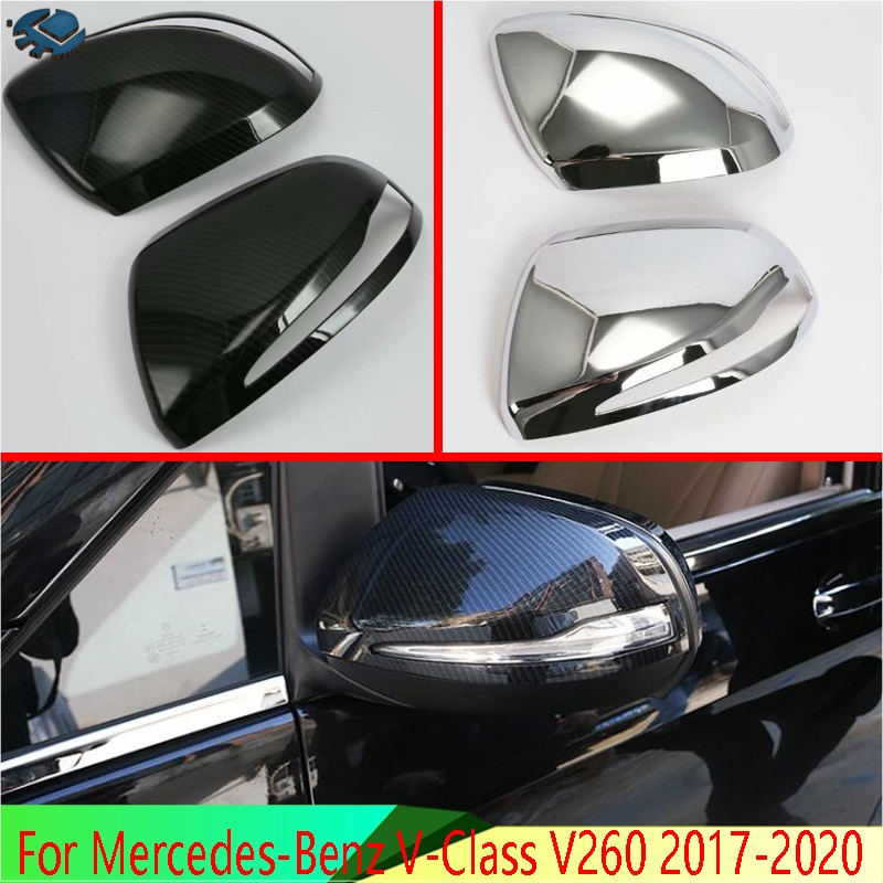 Para Mercedes-Benz Clase V V260 2017-2020 accesorios, puerta espejo lateral recorte CUBIERTA...