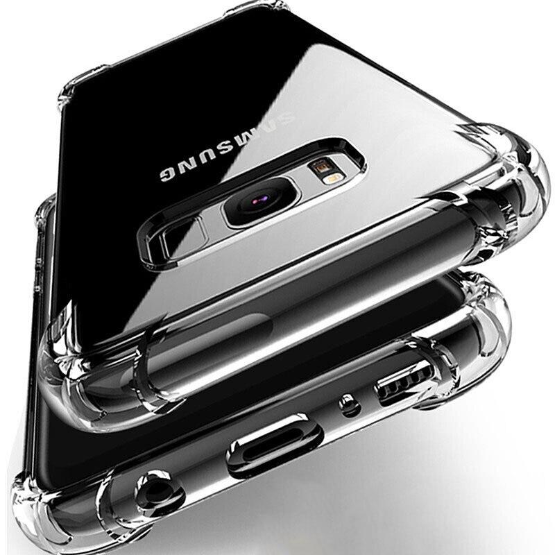 Stoßfest Fall für Samsung Galaxy S10 Plus lite S10e S20 S8 S9 plus Silikon Telefon Fällen auf für Samsung Note 10 9 8 zurück Abdeckung