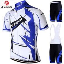 X-tiger été manches courtes cyclisme Jersey ensemble respirant séchage rapide cyclisme vêtements course vélo vêtements vtt vélo vêtements ensemble