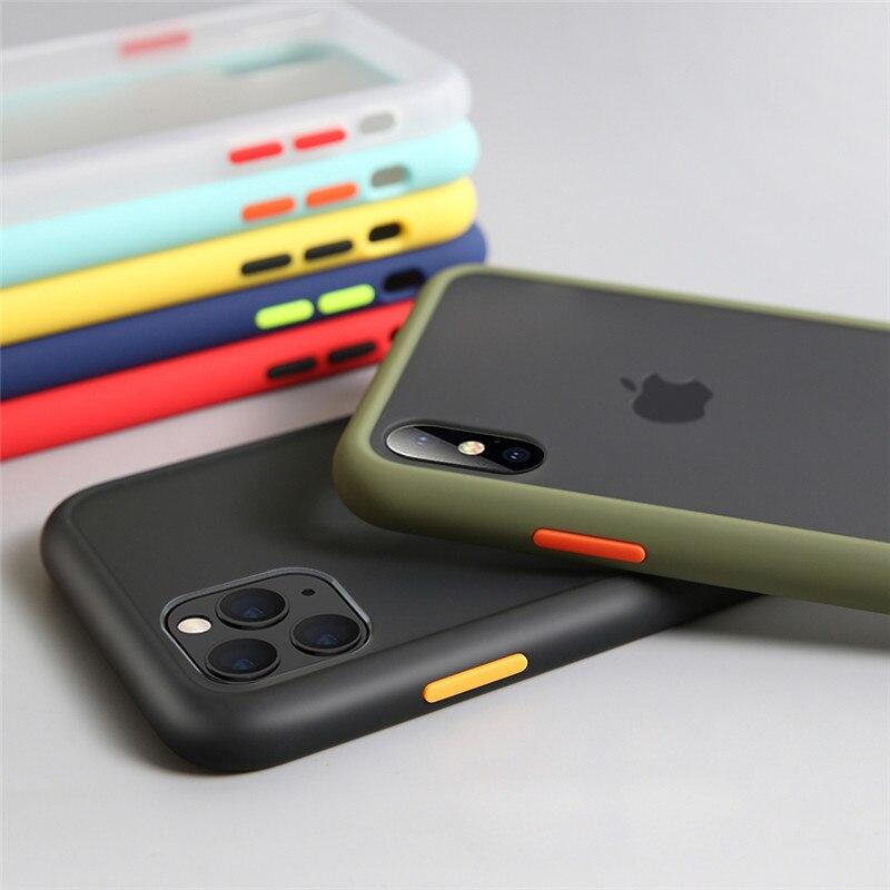 A prueba de golpes a prueba transparente caja del teléfono de silicona para iPhone 11 Pro X XS X Max XR 8 7 6 6S Plus claro suave volver funda para el iPhone 7 8 X XR