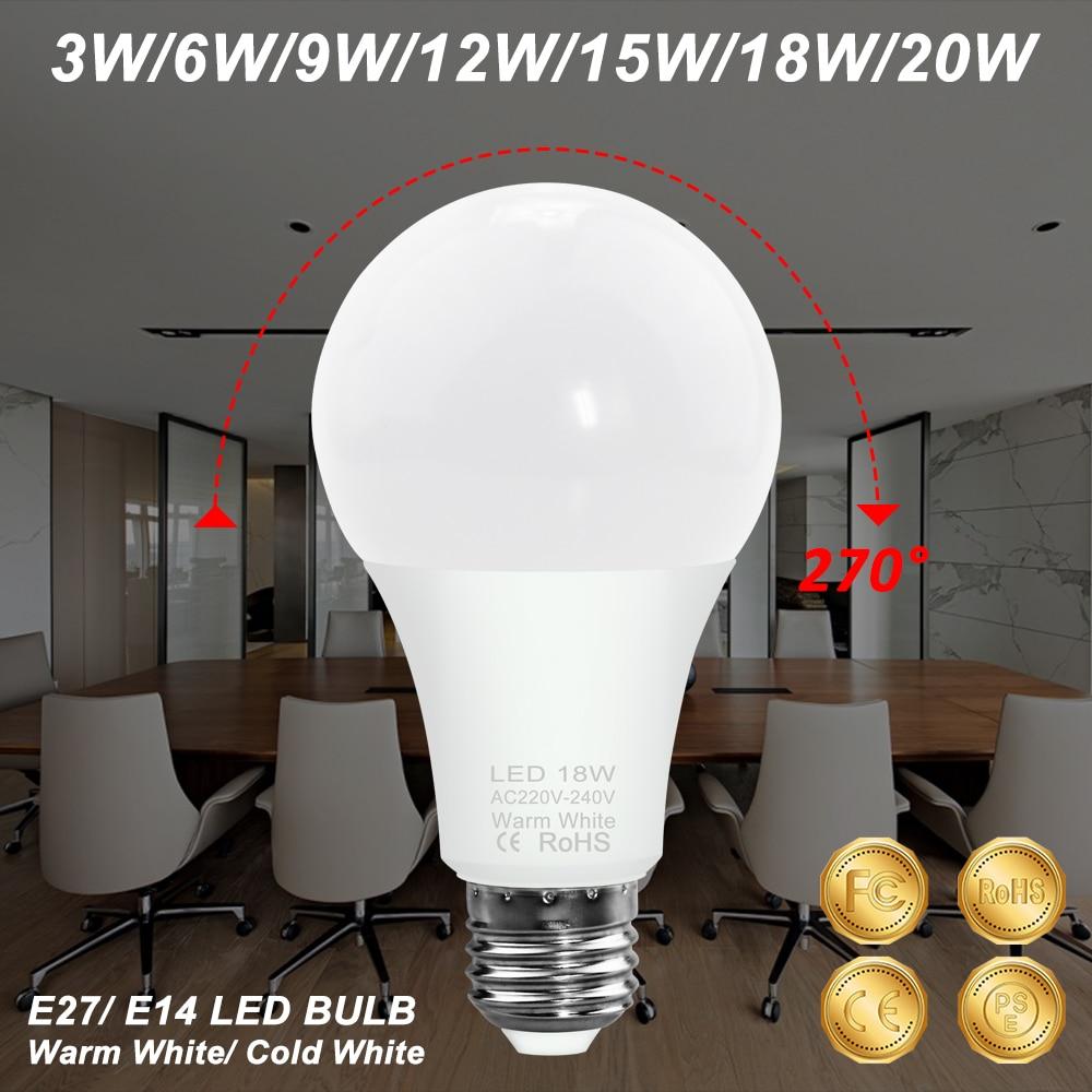 Bombilla Led E27 para decoración del hogar, 3W, 6W, 9W, 12W, 15W,...