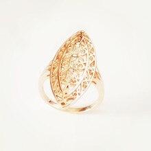 Anillos piedra Natural de oro 585 para mujer, joyería de moda, anillo largo infinito dorado para mujer
