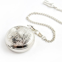Quartz Pocket Watch 58MM Stainless Steel Dial Imported Movement Pocket Watch Set Pocket Watch Unisex