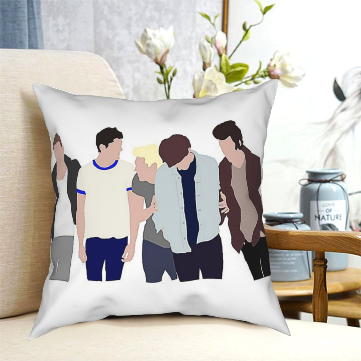 One DirectionOT5 Чехол на подушку с изображением полуночных воспоминаний, декоративная подушка, чехол, s Чехол, домашние диванные подушки 40x40,45x45 см чехол