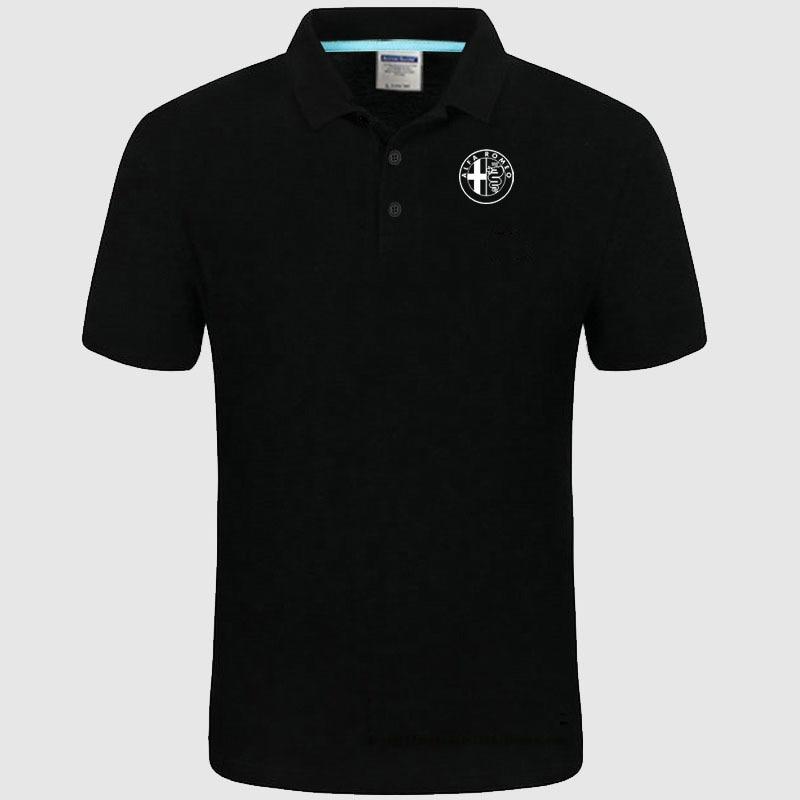 High quality logo crocodil Alfa Romeo logo Polo classic brand Men Polo Shirt Men Casual solid Short Sleeve cotton polos