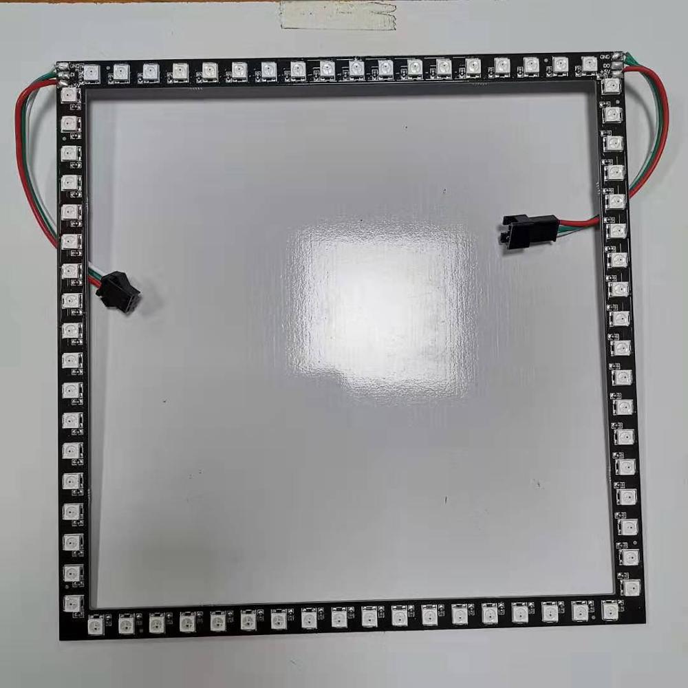 Module ws2812b led, module 18LED/côté, ws2812b 5050 rgb led bande de longueur latérale de 20cm dépaisseur pcb, produit personnalisé