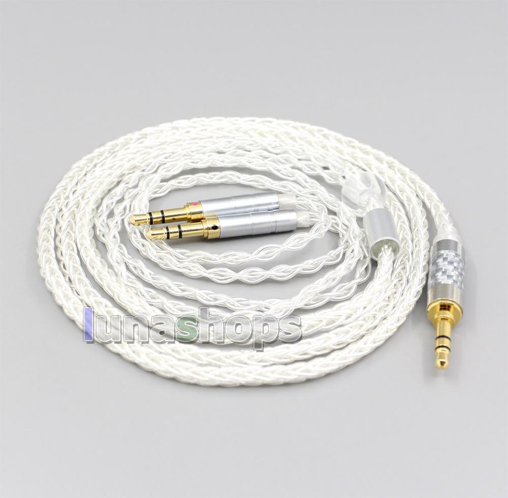 2,5mm 4,4mm XLR 8 Core chapados en plata OCC Cable de auriculares para Hifiman Sundara Ananda HE1000se HE6se he400 3,5mm pin LN006567