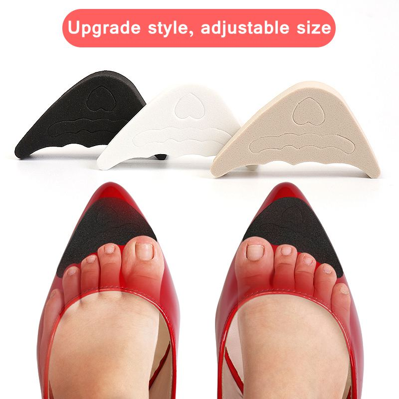 1pair Women High Heel Toe Plug Insert Shoe Front Filler Cushion Pain Relief Protector Accessories Forefoot Pad Half Feet Insoles
