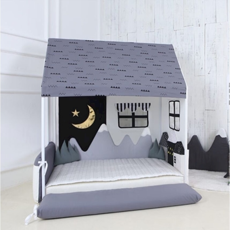 Noworodki cama bedbumper protector antykolizyjna ze wzorem ośnieżonych gór dekoracyjne łóżko surround na łóżeczko dla dziecka akcesoria zmywalne